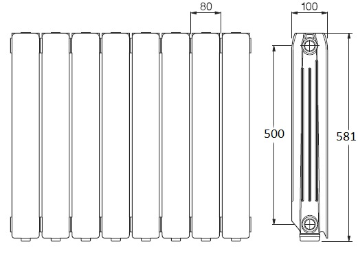 medidas-radiadores-agua-ferroli-europa